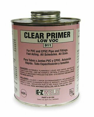 Ez Weld Clear Primer, Size 32, For Use With Pipe And Fittings Clear   21104