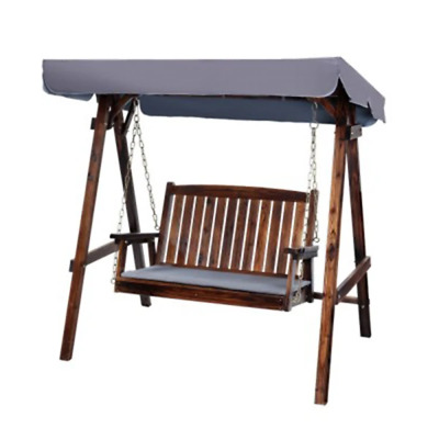 Swing Chair Wooden Garden Bench Canopy 2 Seater Outdoor Furniture