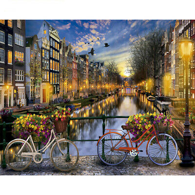 Modern City Night Art Paint By Numbers DIY Oil Painting Home Decor