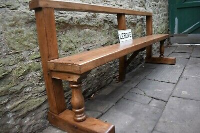 Large Vintage Oak Bench Indoor Outdoor