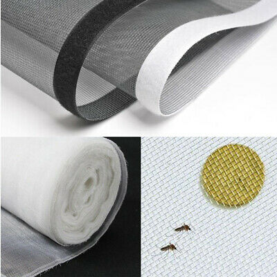 Insect Screen Blind Window Netting Kit Fly Bug Wasp Mosquito Curtain Mesh Net UK