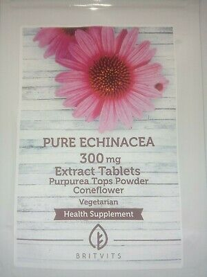 300mg Echinacea Coneflower Extract Tablets Pills. 120 tablets.