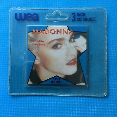 "MADONNA - HOLIDAY + EVERYBODY - 3"" Inch CD Single - RARE **New Original Packing"