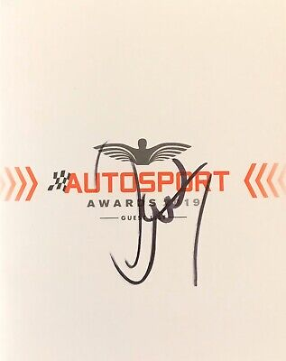 Lewis Hamilton Authentic Signed F1 Autosports Awards 2019 Guest List Aftal#198