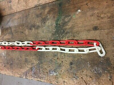 PLASTIC CHAIN 6 mm PHOTOLUMINESCENT & RED x 25 metres - SAFETY