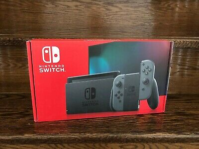 Nintendo Switch Console with Gray Joy‑Con - BRAND NEW - Latest Version
