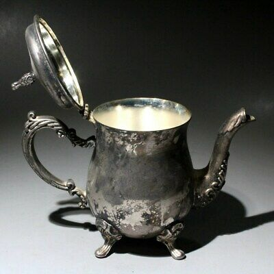 AAA Qianlong Years Collectable China Old Miao Silver Hand-Carved Delicate Teapot