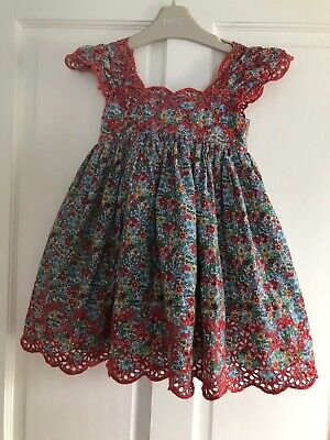 Girls Next Beautiful *Very Rare* Floral Embroidered Dress Age 12-18 Months