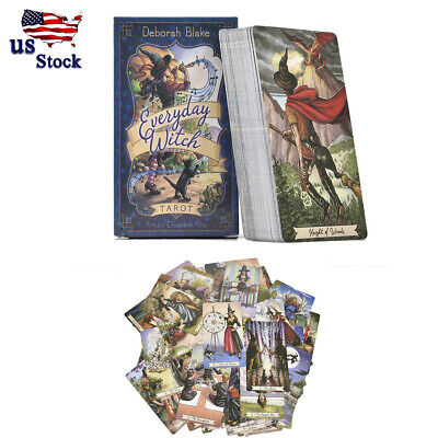 78pcs Tarot Cards Deck Vintage Antique Set Colorful Card Board Game Gift USA