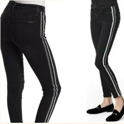 Joes Womens Charlie Ankle Skinny Jeans Black High Rise Stretch Juniors 27 New