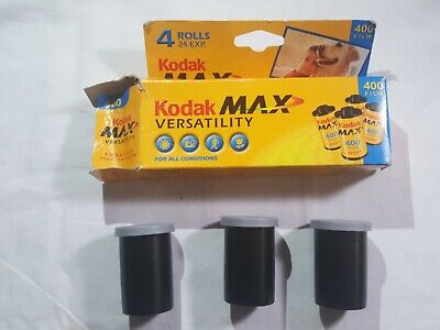 3 Kodak Max Versatility 400 Film 24 Exposures Color 35mm Film EXPIRED 06/2004