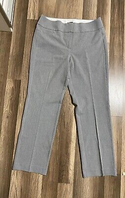 ANN TAYLOR LOFT Sz 12 womens gray pants julie trouser slacks career