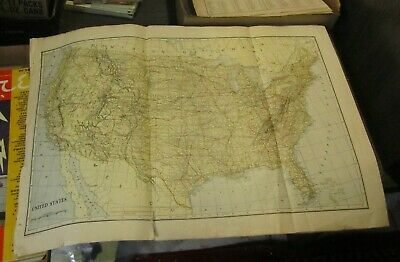 1917 L. L. Poates United States and World Maps Automobile and Aeroplane Routes