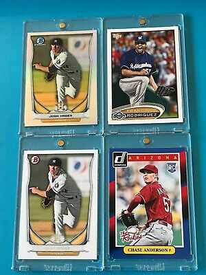 2014 Bowman + Chrome REFRACTOR > JOSH HADER RC's +2014 DONRUSS Chase Anderson RC