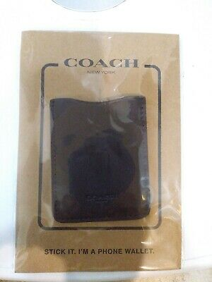 Coach Tan (Oxblood) Wallet Leather Cell Phone Pocket Sticker Card Holder