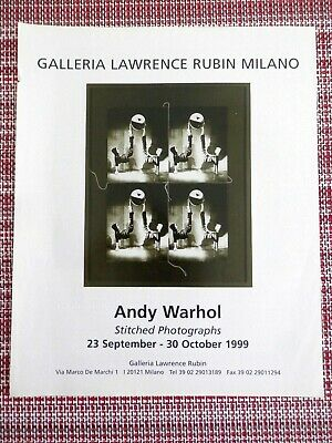 1999 Print Ad, Andy Warhol, Stitched Photographs, Galleria Milano