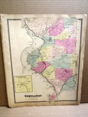 1867 Town Cortlandt Map Westchester County Ny  Beers Atlas