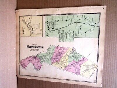 1867 Town North Castle Kensico Armonk Maps Westchester County, Ny  Beers Atlas