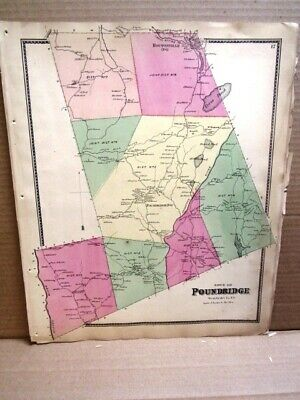 1867 Town Pound Ridge  Map Westchester County, Ny  Beers Atlas