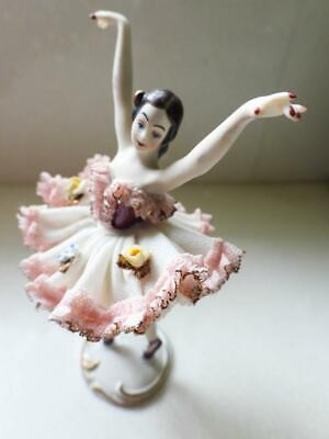 """Antique Dresden Lace Ballerina """"Elfie"""" Signed & made by Alka Germany"""