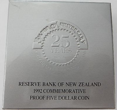 1992 New Zealand Five Dollar Commemorative Proof Coin - Low Mintage