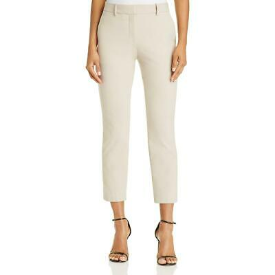 Theory Womens Treeca Tan Flat Front Straight Leg Ankle Pants 00 BHFO 0292
