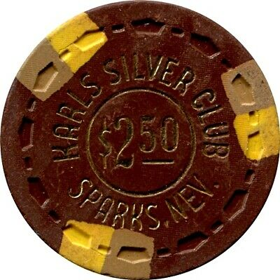 Karl's Silver Club, Sparks $2.50 Casino Chip R6 Rare 31-75