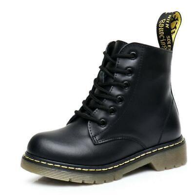 Girls Kids Ankle Butterfly Childrens Flat Shoe Black Biker Military Combat Boots