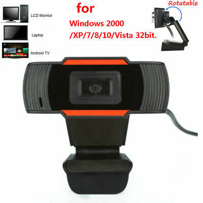 Rotatable 2.0 HD Webcam PC Digital USB Camera Video Recording with Microphone HB