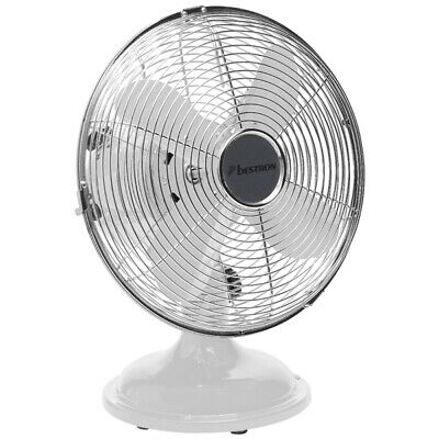 ventilateur de table 25cm 30w métal blanc - bestron