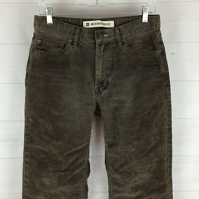 GAP womens size 7P/8P brown mid rise relaxed bootcut soft corduroy pants in EUC