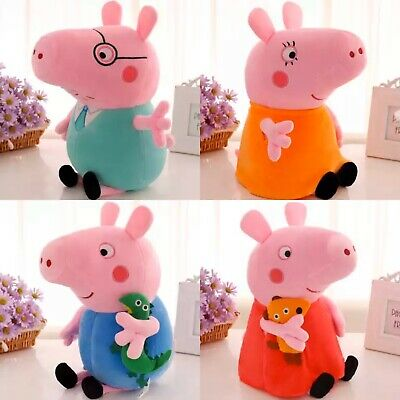 "Authentic Mummy Pig 19cm 7.5""  TV Character Soft Plush Peppa Pig Preschool Toy"