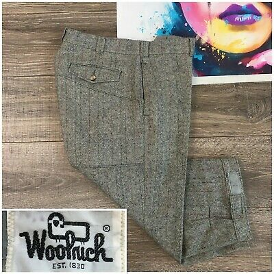 Vintage Woolrich USA Teton Wool Blend Knickers Pants Mens Size 34 Golf Hunting