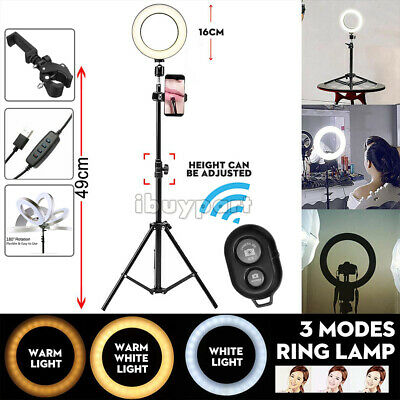 LED Beauty Light Ring w/Selfie Stick & Tripod Stand for Youtuber Live Stream