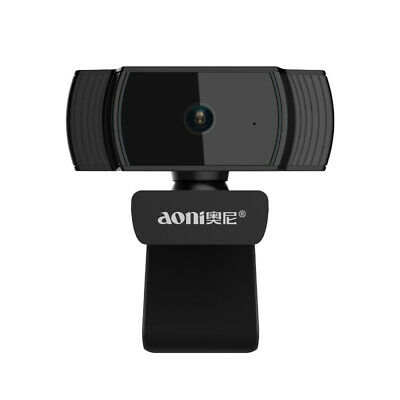 Aoni Webcam Auto Focus Camera HD 30FPS 1080P USB Build-in MIC For TV PC Laptop