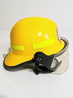 Firefighting Helmet Fire Rescue Cairns Metro 660C With Face Shield Yellow