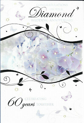 Diamond Wedding 60th Anniversary by WHISTLEFISH New blank greeting card