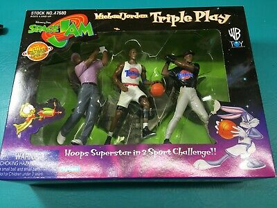 Michael Jordan Triple Play Warner Bros. Space Jam Vintage 1996 Mint Unopened Box