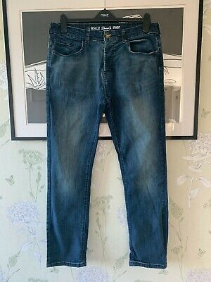 mens Blue Straight Leg Jeans From DENIM CO - Size W34/L32