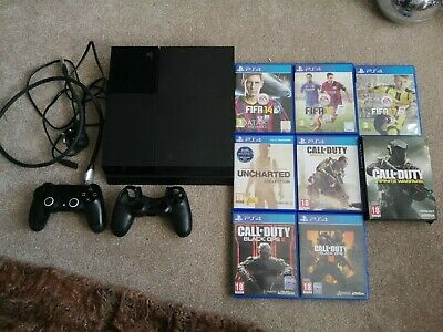 Sony PlayStation 4 500GB Console - Jet Black With 8 Games