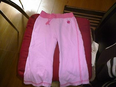 baby girls pink tracksuit bottoms from george size 18/24 months