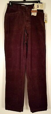 Womens Lee sz 6 L Espresso brown plain front stretch straight leg relaxed. (C12)