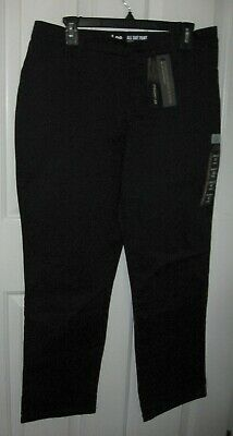LEE Women's Relaxed Fit All Day Straight Leg Pant 12 Short Black New with Tags