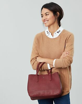 Joules Womens Thernwell Bright Faux Leather Grab Bag - BERRY BLUSH in One Size