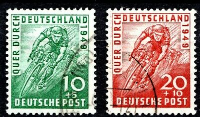 Germany 1949 Cyclists - Full Set - Used