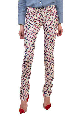 RRP€185 ISABEL MARANT ETOILE Corduroy Trousers Size 34 XS Stretch Floral Pattern