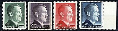 Germany 1942 Hitler Rm Issues 12 1/2 Perf - Full Set - Mint Never Hinged**