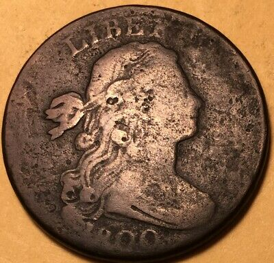1800 Draped Bust Large Cent, Very Good Details, S-203 R-3