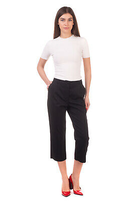 RRP €410 DOLCE & GABBANA Capri Trousers Size IT 44 / M Pleated Made in Italy