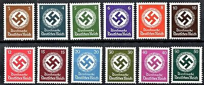 GERMANY 1942 OFFICIALS [NO Wmk] - FULL SET - MINT NEVER HINGED**